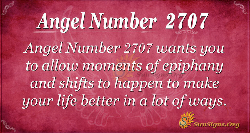 Angel Number 2707