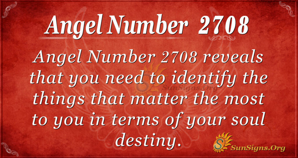 Angel Number 2708