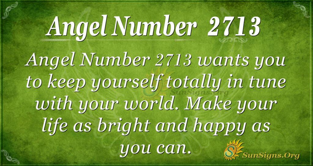 Angel Number 2713