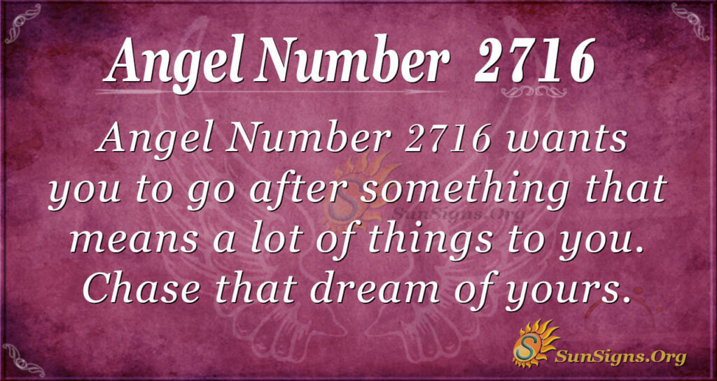 Angel Number 2716