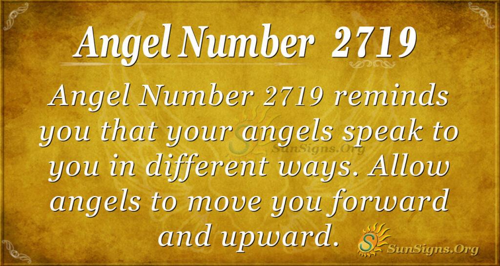 Angel Number 2719
