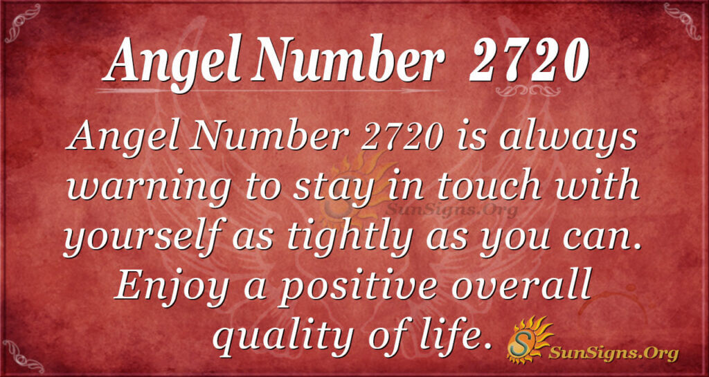Angel Number 2720