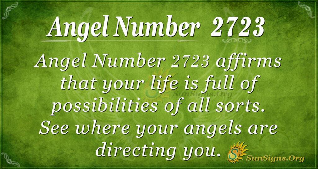 Angel Number 2723