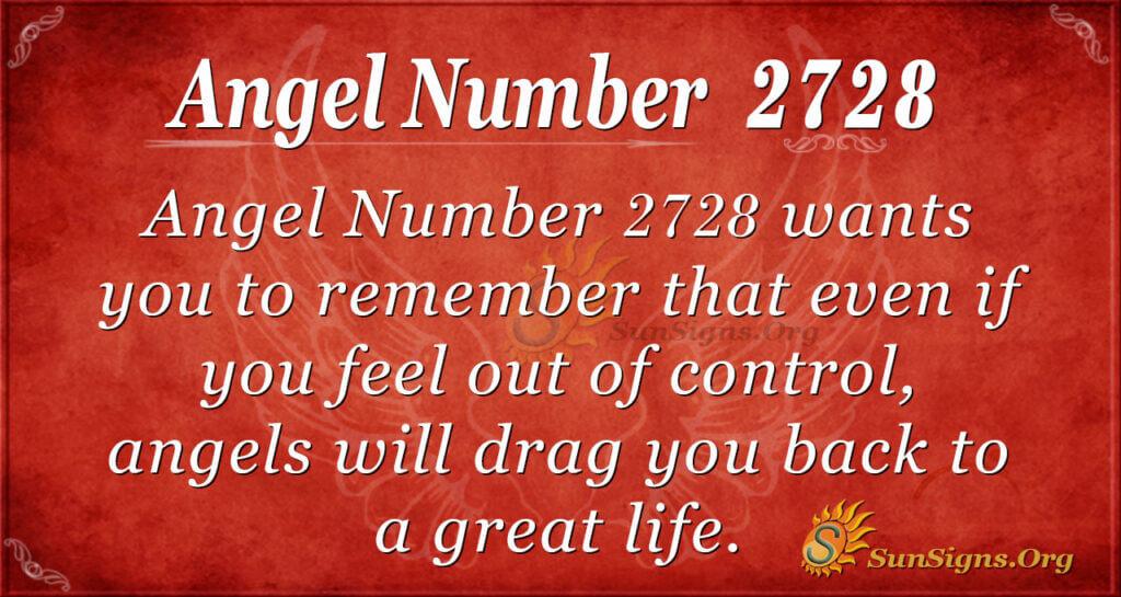 Angel nuber 2728