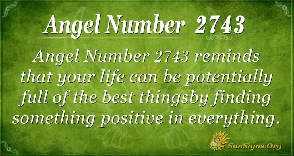 Angel Number 2743