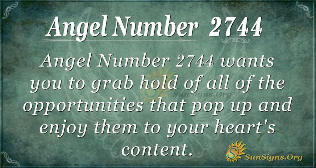 Angel number 2744