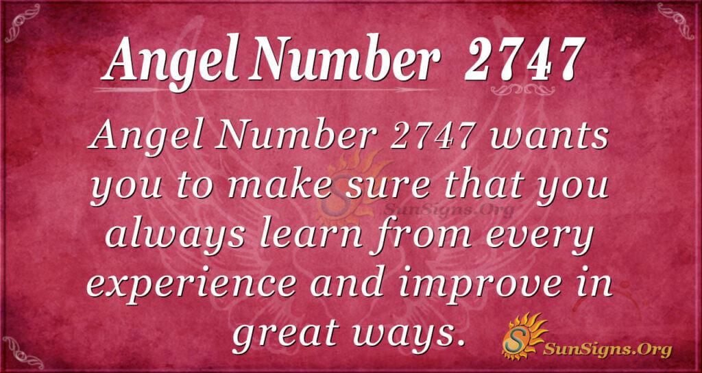 Angel Number 2747