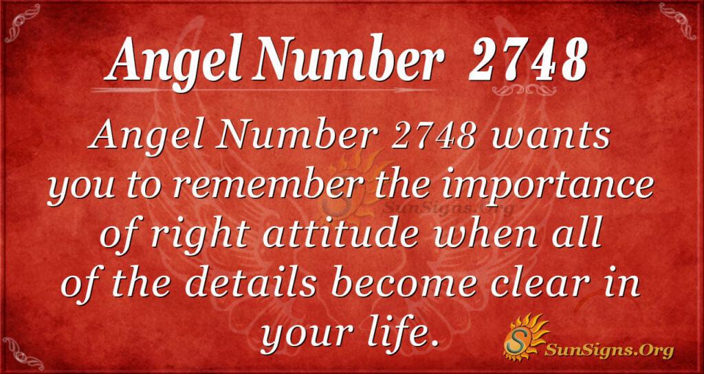 Angel Number 2748