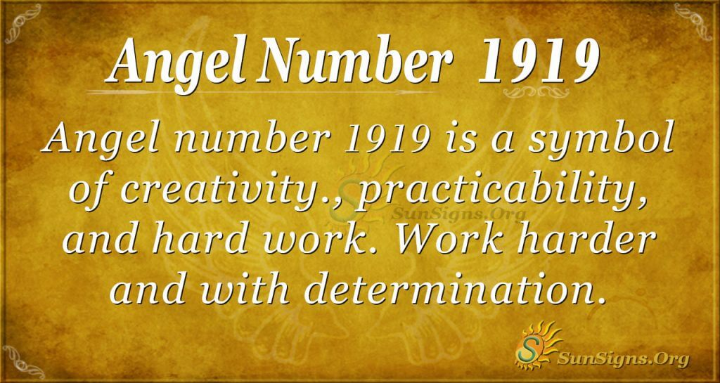 angel number 1919