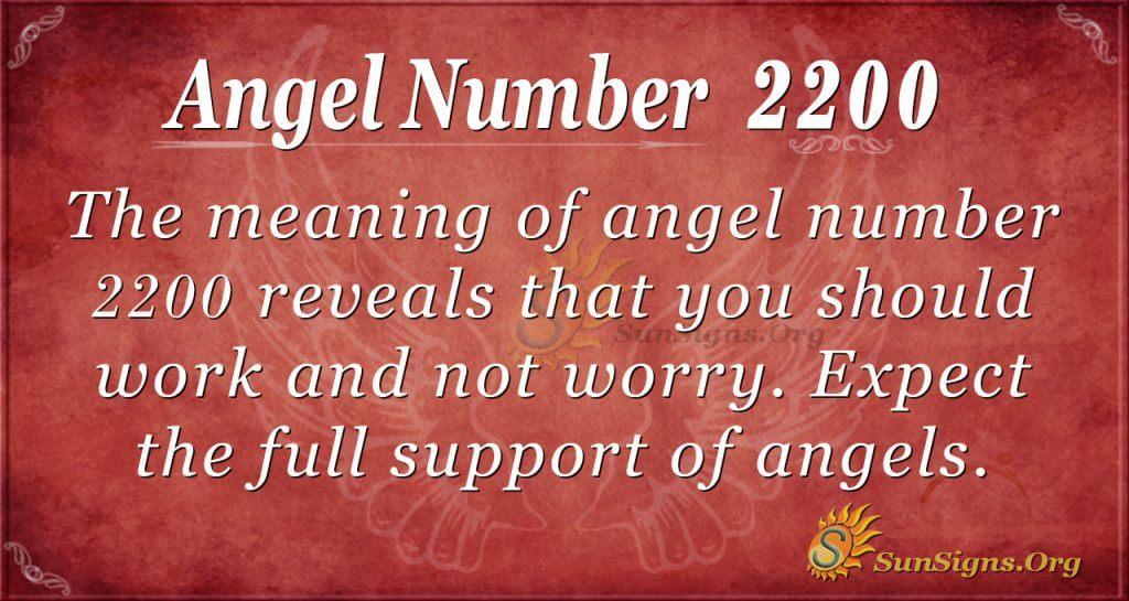 angel number 2200