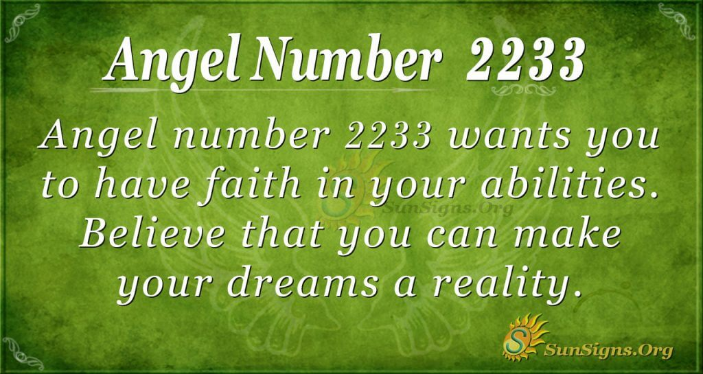 angel number 2233