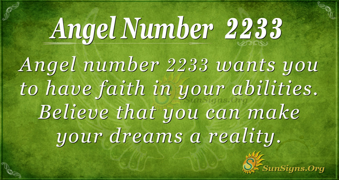 Angel Number 2233 Meaning