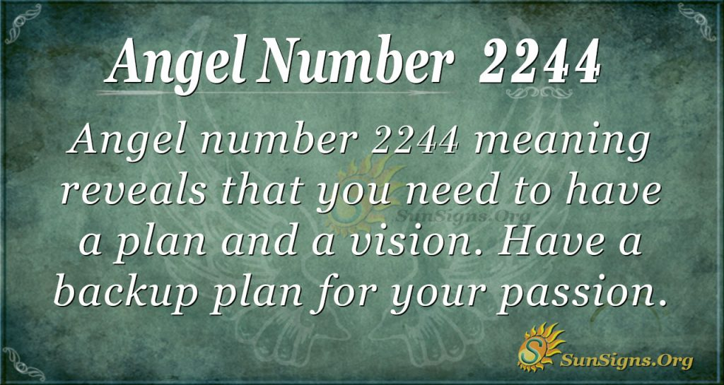 Angel Number 2244 Meaning