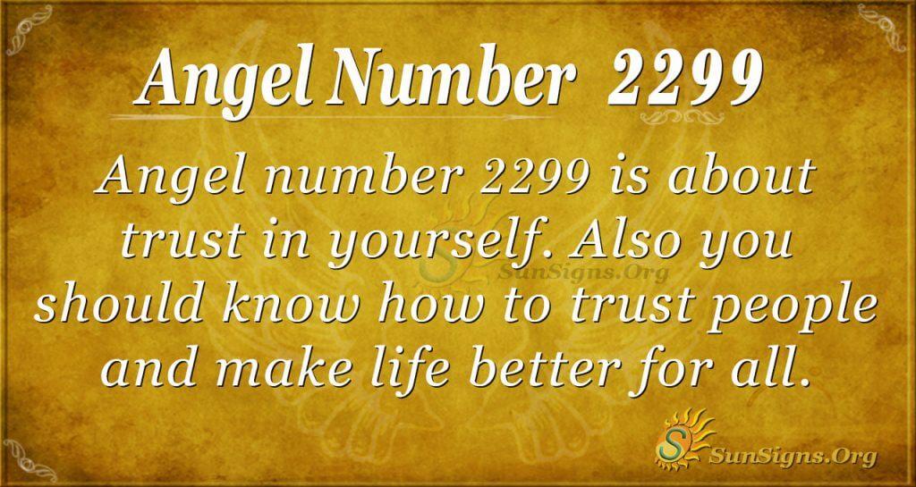 angel number 2299