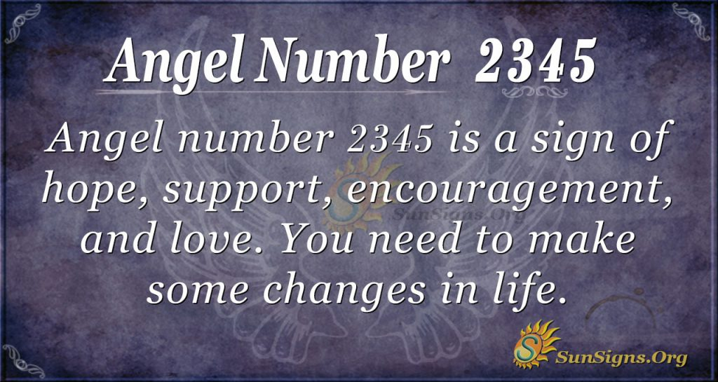 angel number 2345