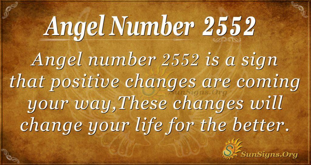 angel number 2552