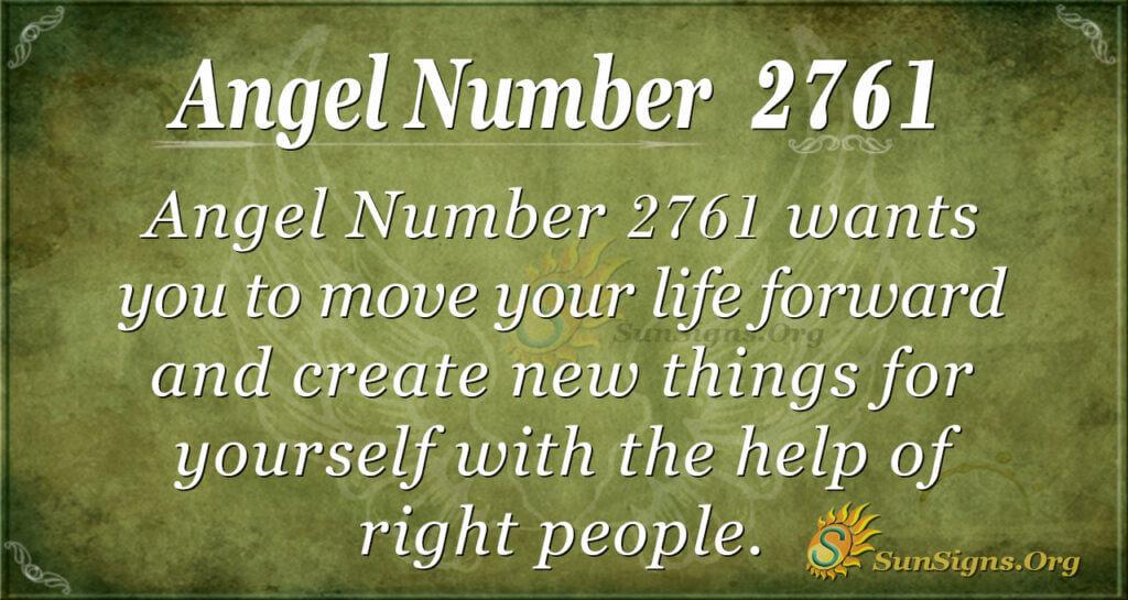 Angel Number 2761