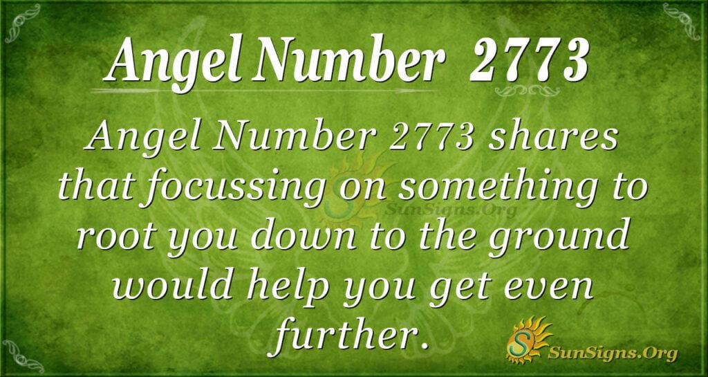 Angel Number 2773