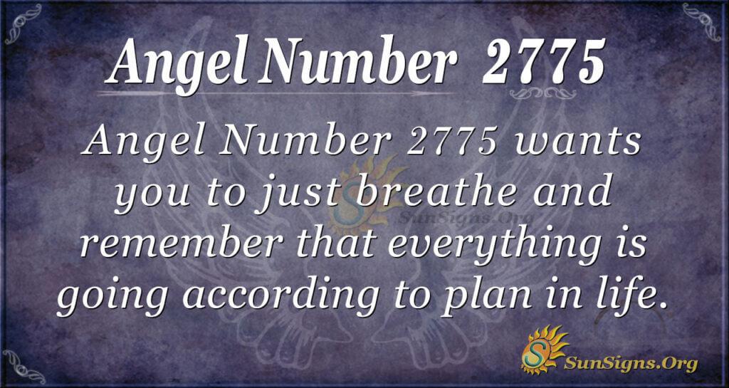 Angel Number 2775
