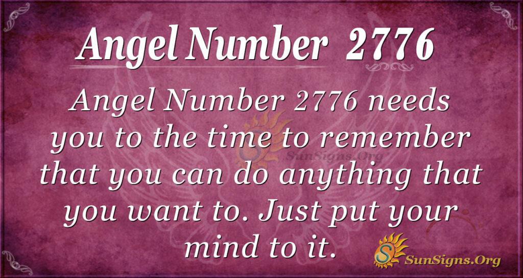 Angel Number 2776
