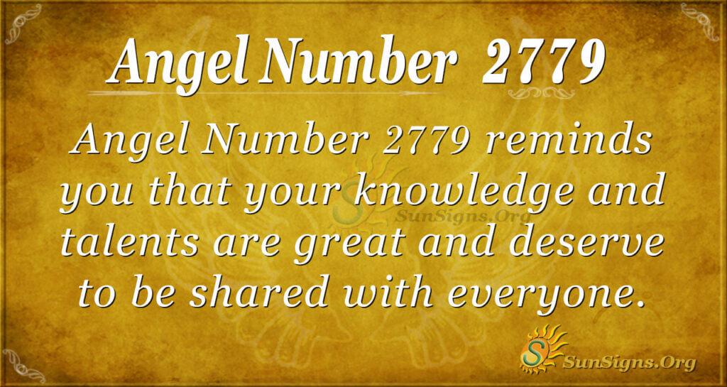 Angel Number 2779