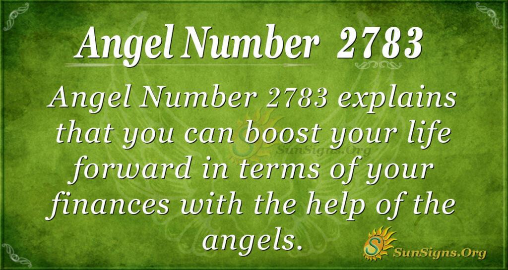 Angel Number 2783