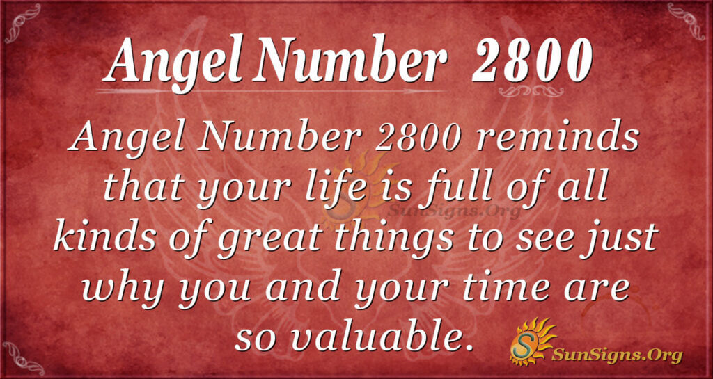 Angel number 2800