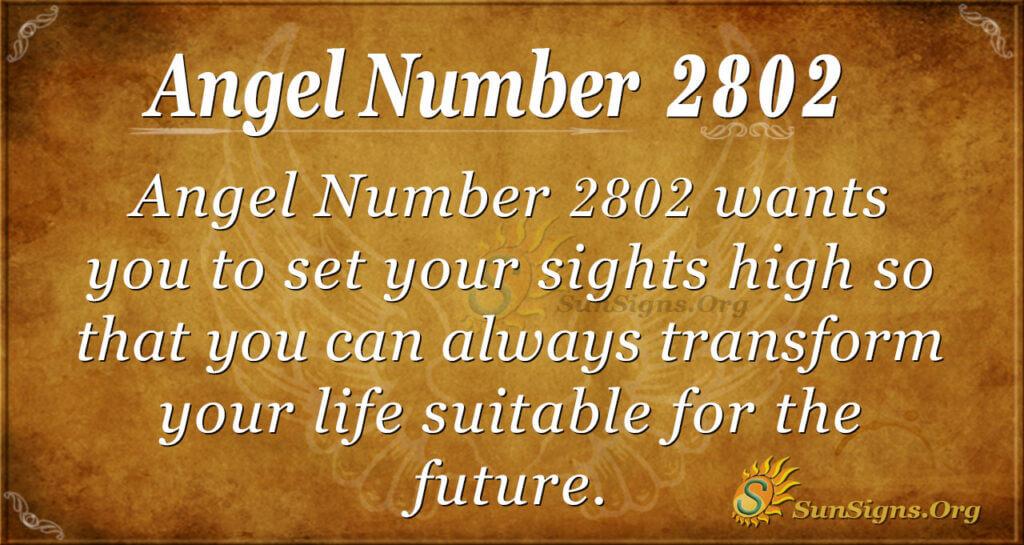 Angel Number 2802