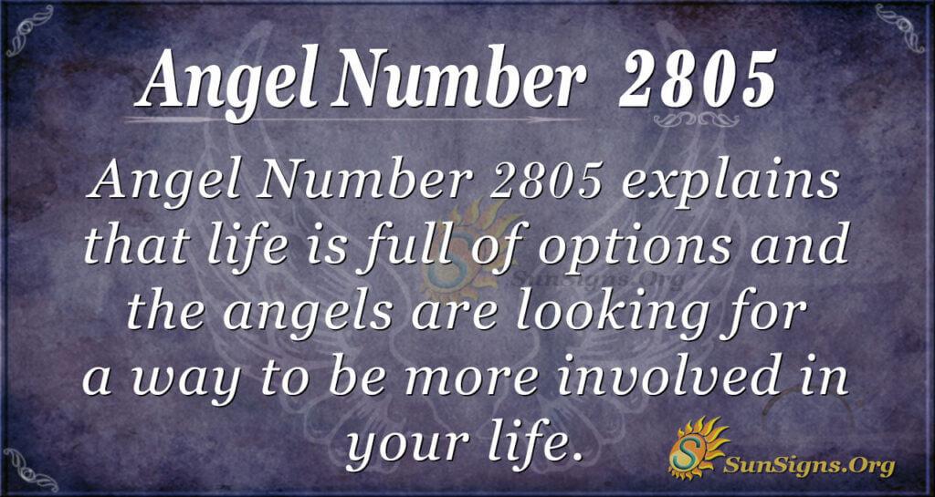 Angel Number 2805