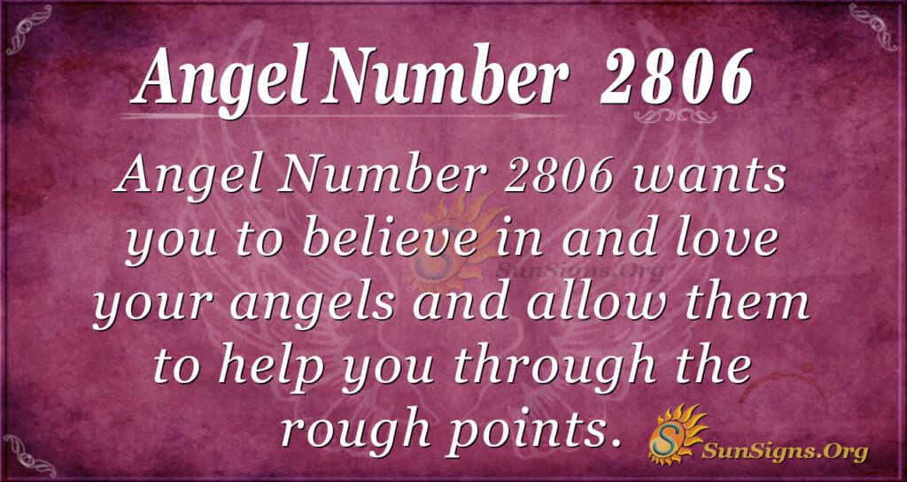 Angel Number 2806