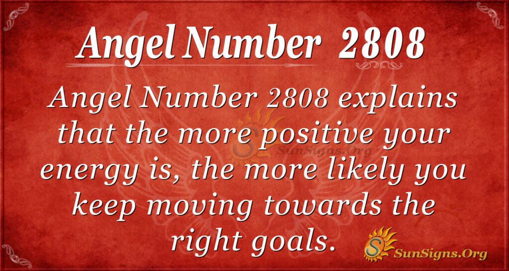 Angel Number 2808
