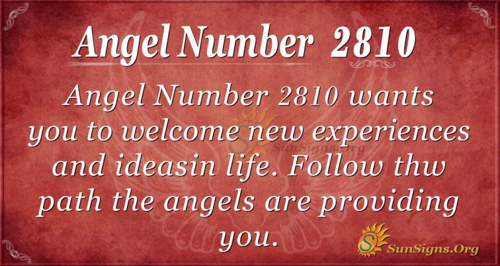 Angel Number 2810