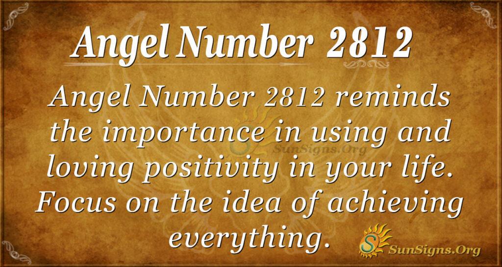 Angel Number 2812
