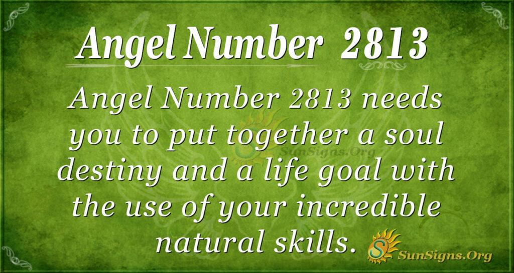 Angel Number 2813