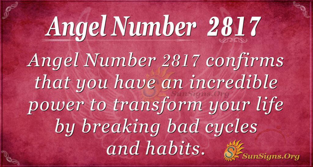 Angel Number 2817