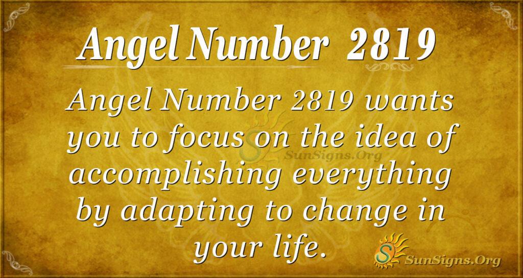 Angel Number 2819