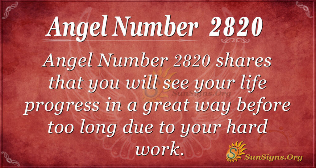 Angel Number 2820