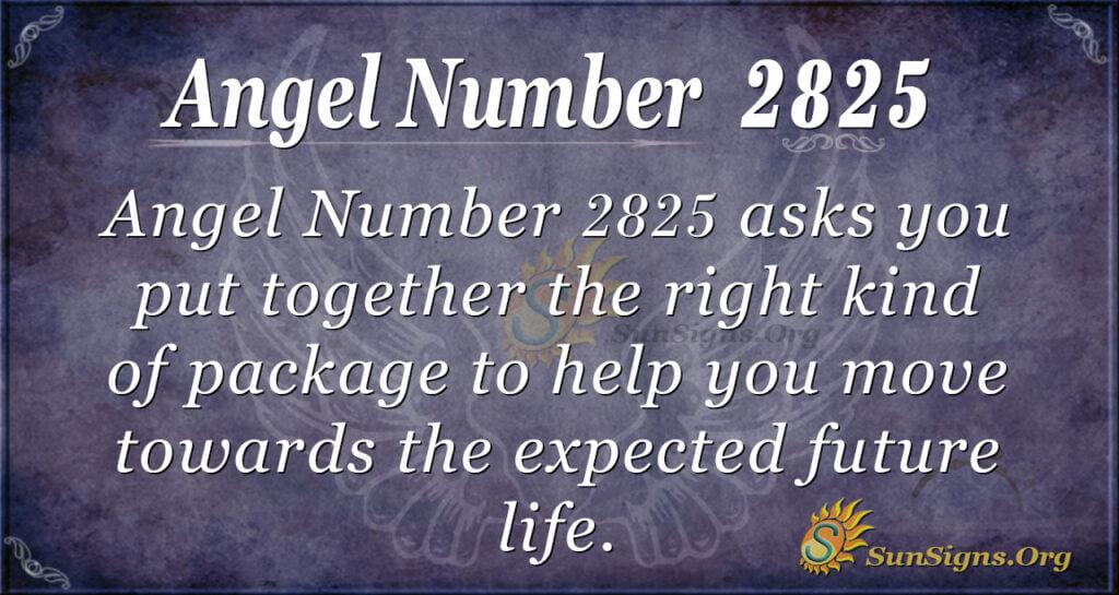 Angel Number 2825