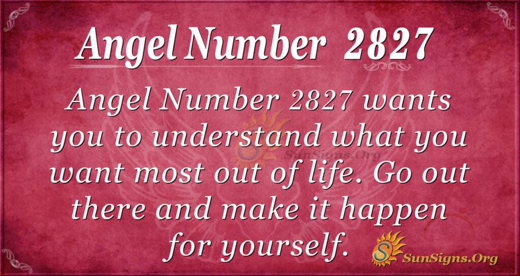 Angel Number 2827