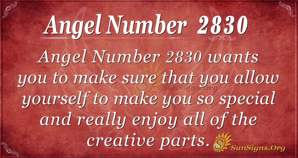 Angel Number 2830