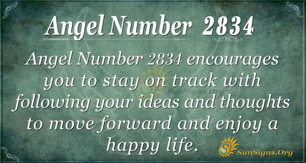 Angel Number 2834