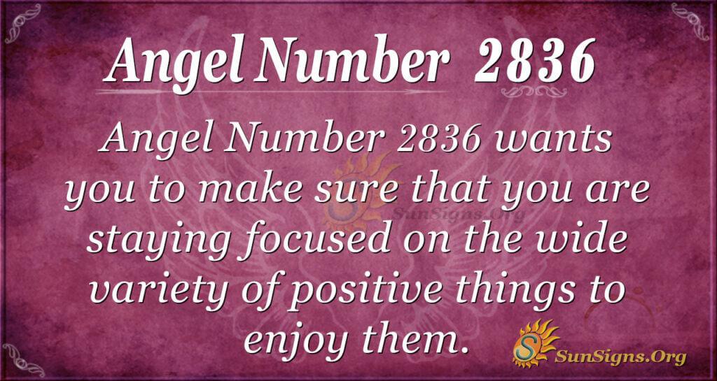 Angel Number 2836