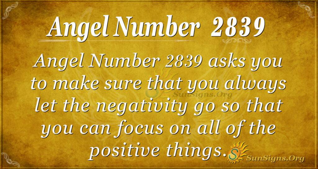 Angel Number 2839