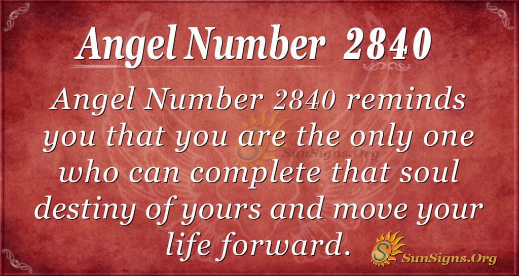 Angel Number 2840