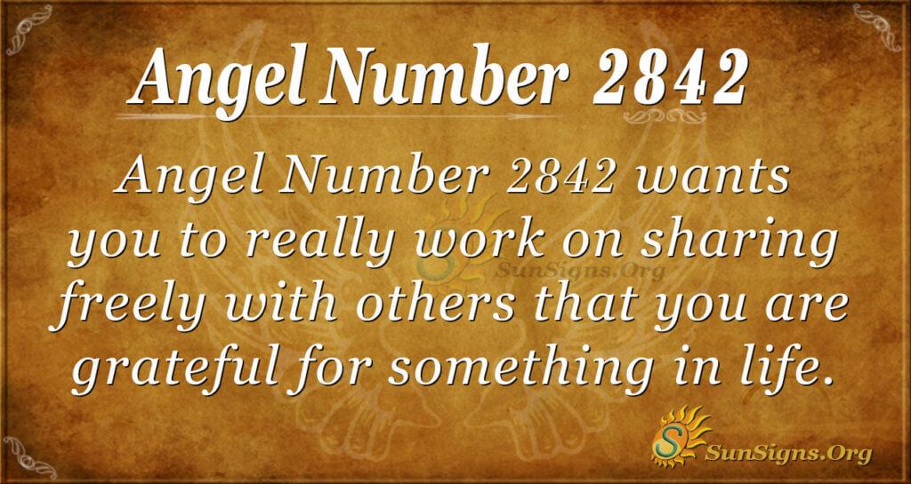 Angel Number 2842