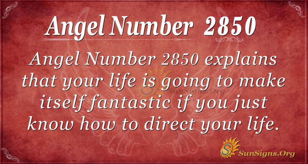 Angel Number 2850