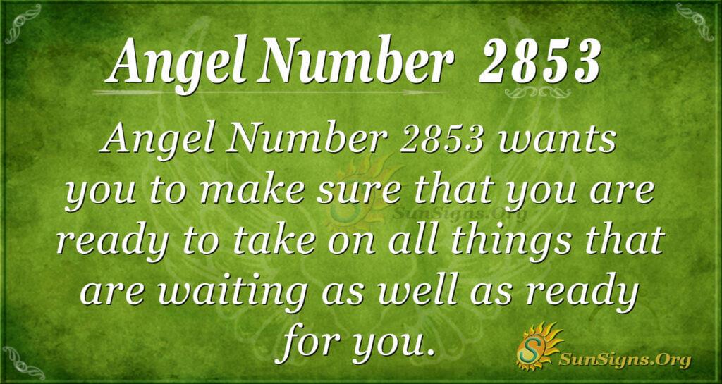 Angel Number 2853