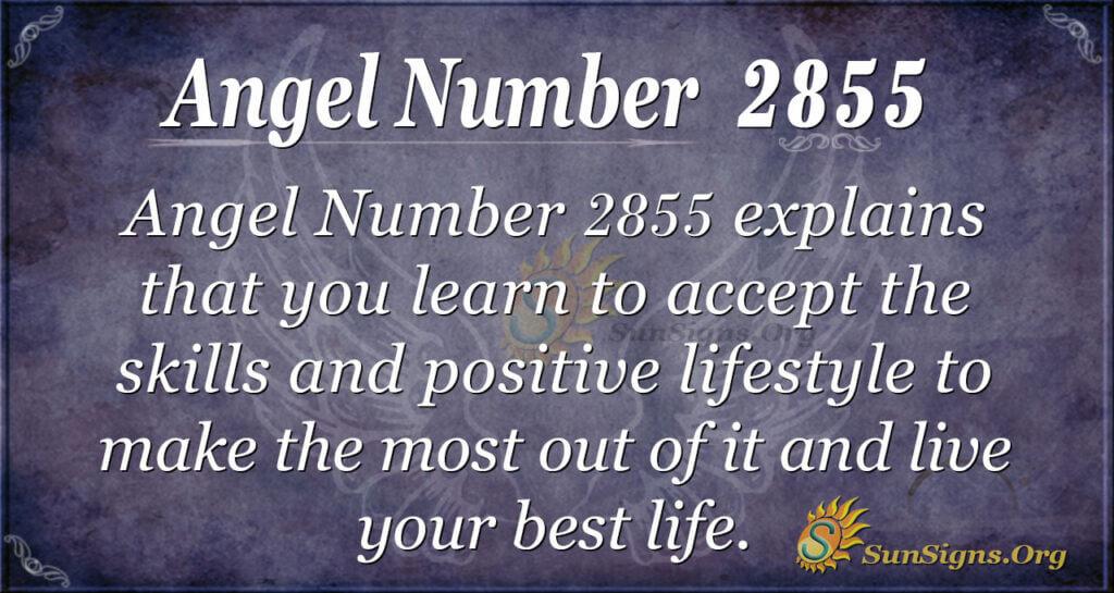 Angel Number 2855