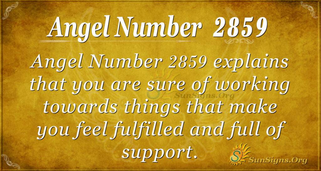 Angel Number 2859