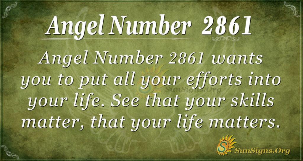 Angel Number 2861